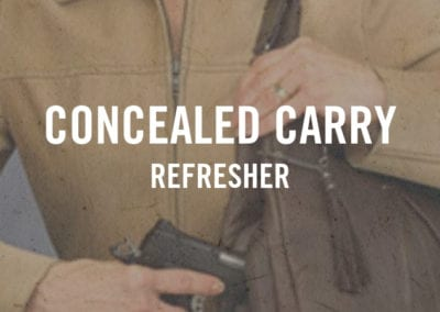 Concealed Carry Refresher
